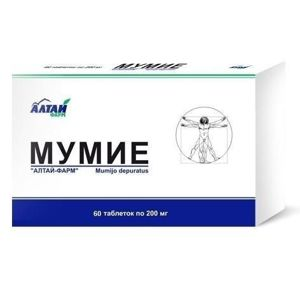 Mumio - 1 tab/200 mg - Farm Produkt - 60 tabliet