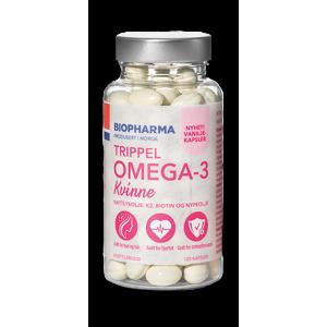 Vanilkové Omega 3 kyseliny s pupalkovým olejom pre ženy - Trippel - Biopharma - 120 kapsúl